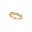 Antique Style Diamond Wedding Band Ring