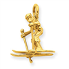 14k Moveable Snow Skier Charm