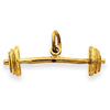 14k Barbell Charm