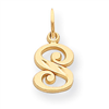 14k Initial S Charm