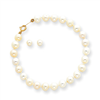 "14k Baby Cultured Pearl Set - 5.5"" Bracelet & Screwback Earrings"""""
