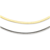 14k Two-tone 2.5mm Reversible Omega Necklace chain