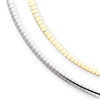 14k Two-tone Reversible 3mm Omega Necklace chain