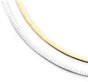 14k Two-tone Reversible 4mm Omega Necklace chain