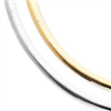 14k Two-tone Reversible 8mm Omega Necklace chain