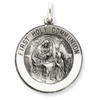 Sterling Silver Antiqued First Holy Communion Medal