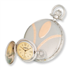 Swingtime Rose & Chrome-plated Quartz Pocket Watch