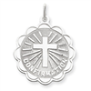Sterling Silver Confirmation Disc Charm