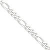 Sterling Silver 10.75mm Figaro Chain