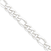 Sterling Silver 12.75mm Figaro Chain