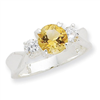 Sterling Silver Citrine ring bracelet