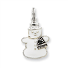 Sterling Silver Enameled Snowman Charm