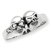 Sterling Silver Antiqued Skull Ring