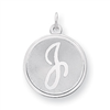 Sterling Silver Brocaded Initial J Charm
