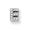 Sterling Silver CZ Initial E Slide