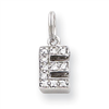 Sterling Silver CZ Initial E Charm