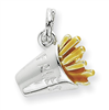 Sterling Silver Enameled French Fry Charm