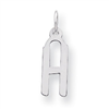 Sterling Silver Medium Slanted Block Initial H Charm