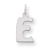 Sterling Silver Bubble Block Initial E Charm