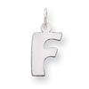 Sterling Silver Bubble Block Initial F Charm