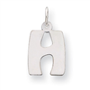 Sterling Silver Bubble Block Initial H Charm