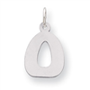 Sterling Silver Bubble Block Initial O Charm