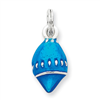 Sterling Silver Enameled Blue Shell Charm