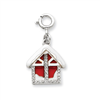 Sterling Silver Enameled & CZ House Charm