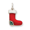 Sterling Silver Enameled Stocking Charm