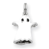 Sterling Silver White Enamel Ghost Charm