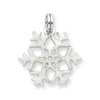 Sterling Silver Enameled Snowflake Charm