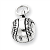 Sterling Silver Antiqued Baseball Charm