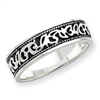 Sterling Silver Fancy Antiqued Band ring