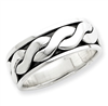 Sterling Silver Antiqued Band ring
