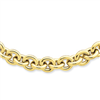 14k 18in 8.75mm Polished Fancy Rolo Link Necklace chain