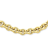 14k 18in 7.25mm Polished Fancy Rolo Link Necklace chain