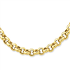 14k 18in 7mm Polished Fancy Rolo Link Necklace chain