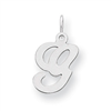 Sterling Silver Stamped Initial G