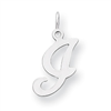 Sterling Silver Stamped Initial I