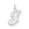 Sterling Silver Stamped Initial J
