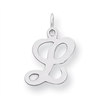 Sterling Silver Stamped Initial L