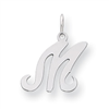 Sterling Silver Stamped Initial M