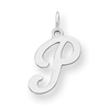 Sterling Silver Stamped Initial P