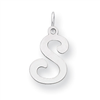 Sterling Silver Stamped Initial S