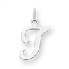 Sterling Silver Stamped Initial T