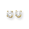 14k 5mm Moissanite Round Earring