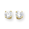 14k 6mm Moissanite Round Earring