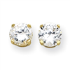 14k 8mm Moissanite Round Earring