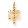 10k Solid Doctor of Medicine MD Charm
