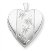 Sterling Silver 20mm with Butterflies Heart Locket chain
